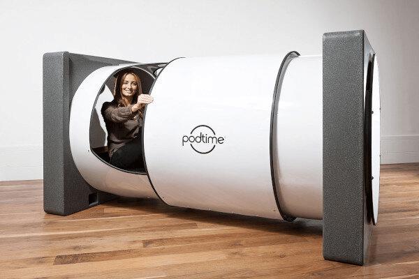woman in podtime pod